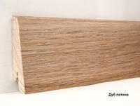Шпонированный плинтус Ключук Дуб патина высотой 60 и 80мм 60х18мм., фото 1