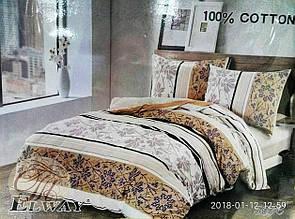 Комплект постільної білизни полуторний Elway 5076 сатин