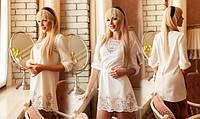 Шикарная стильная туника – платье Литиция молочный