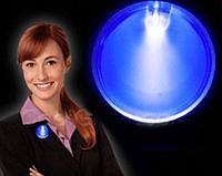 Рекламный светодиодный значок. LED Значок бейдж., фото 1