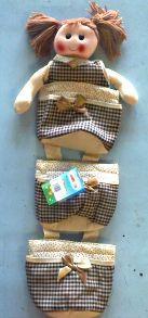 Коврик-кукла (3 кармана), 30 см,  24790