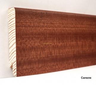 Плинтус Ключук шпонированный Сапеле натуральный высотой 60 и 80мм 80х18мм., фото 1