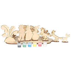 Сборная деревянная модель Репка + краски, АТ-112