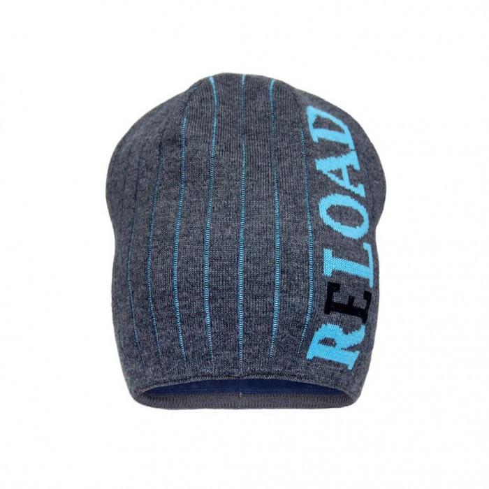 Теплая шапка с надписями для мальчика р-р 50,52,54