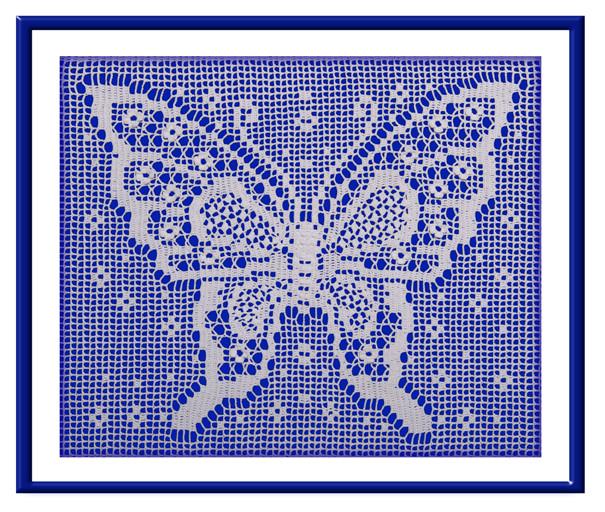 """В'язаний декор """"Метелик"""" (142-143)"""