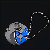 Портативный мини-складной нож Stianless Steel Карабин Брелок Pocket На открытом воздухе Военный Выживание - 1TopShop, фото 2
