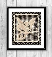 "В'язаний декор ""Метелик"" (148-149), фото 1"