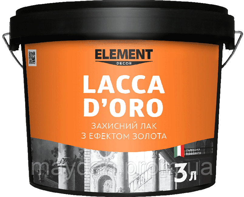"Защитний лак LACCA D'ORO ""ELEMENT DECOR"""