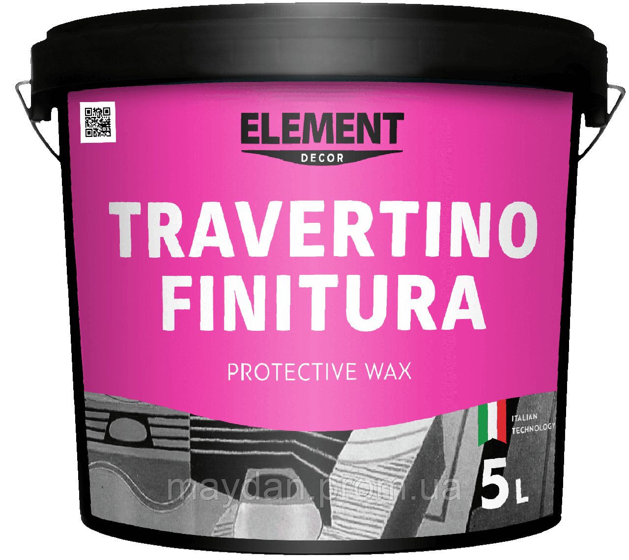 "Защитный воск TRAVERTINO FINITURA ""ELEMENT DECOR"""