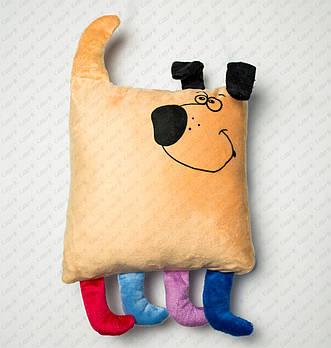 """Подушка-игрушка """"Такса 20201"""" плюшевая с местом для сублимации"""