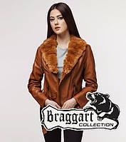 Braggart Youth   Женская куртка весенне-осенняя 25692 коричневая