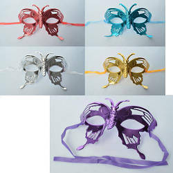 Карнавальная маска, завязки, микс цветов, MK2305