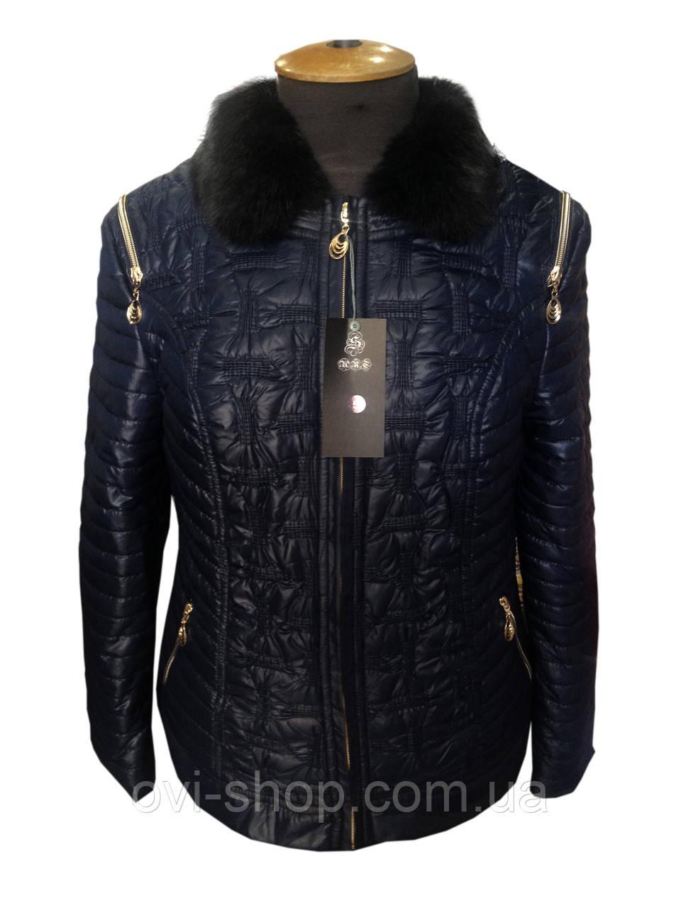 Женская зимняя куртка-жакет большой размер - интернет-магазин Ovi-Shop в Харькове