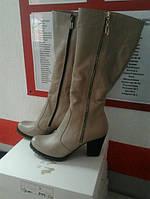 Женские сапоги каблук 7см