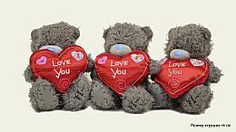 """Мягкая игрушка """"Мишка Teddy"""" c сердцем """"I Love You"""", размер игрушки 16 см, 16WC1"""
