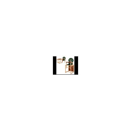 """Стульчик для кормления """"Собака"""", трансформер, ремни безопасности, большая спинка зеленая, дерево, МV-010-22-6"""