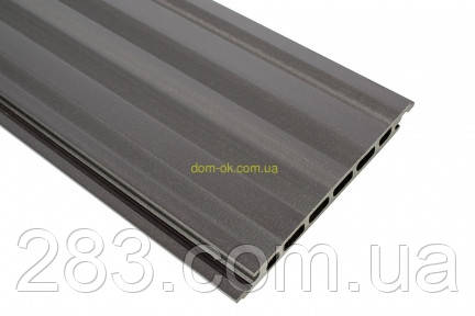Сайдинг из древесно-полимерного композита  HOLZDORF 165х13х3000 мм Браш  * графит