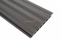 Сайдинг из древесно-полимерного композита  HOLZDORF 165х13х3000 мм Браш  * графит, фото 1