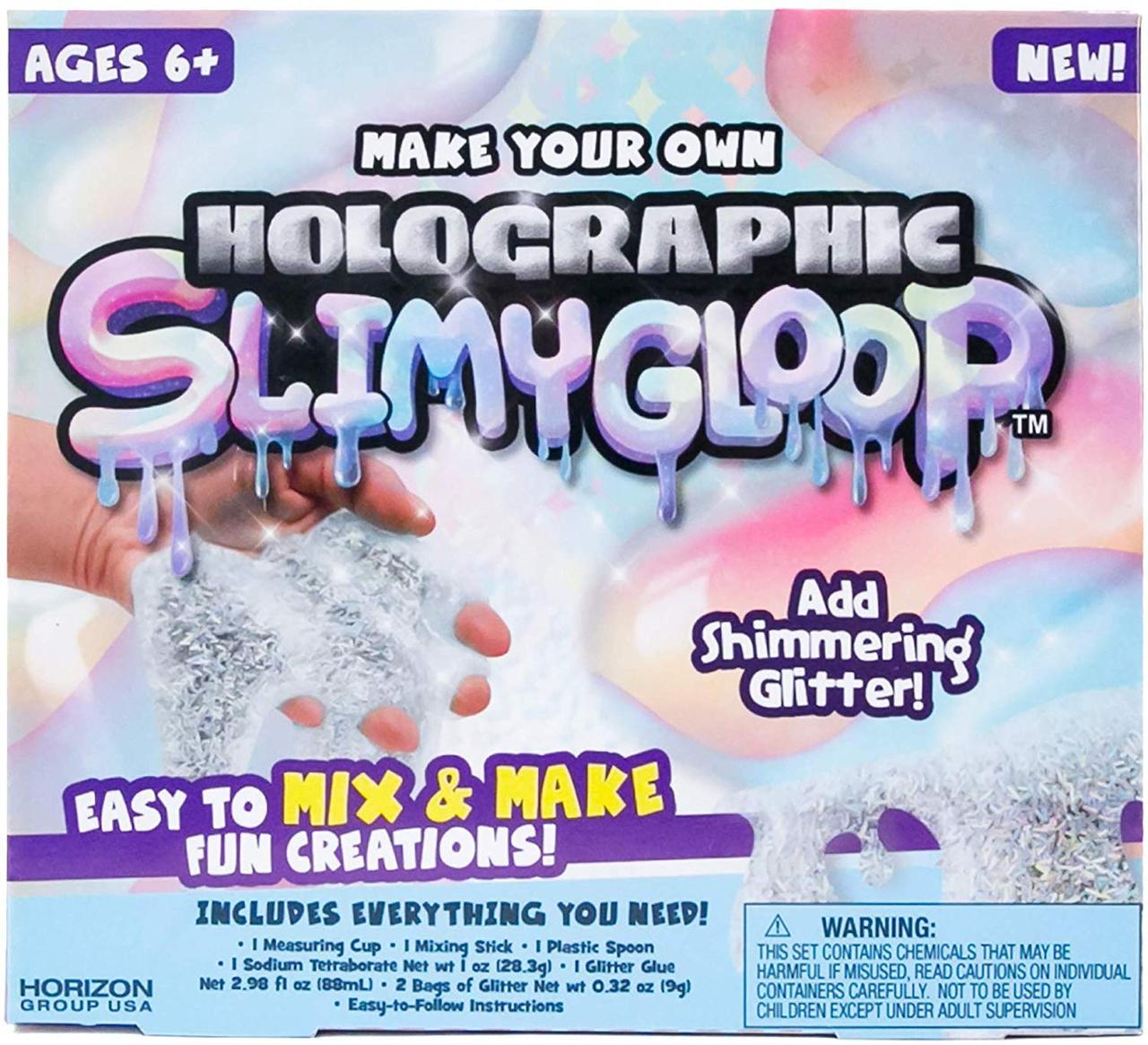 "Набор для создания блестящего слайма ""Серебро"" Slimygloop Slime Kit, Horizon Group, оригинал из США"
