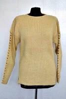 Теплый вязанный свитер из  шерсти ангорской козы