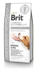 Сухой корм для собак Brit Veterinary Diet Dog Joint & Mobility при заболеваниях суставов 12кг