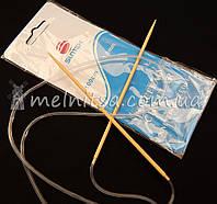 Спицы вязальные бамбуковые, 3,5 мм, дл.100см
