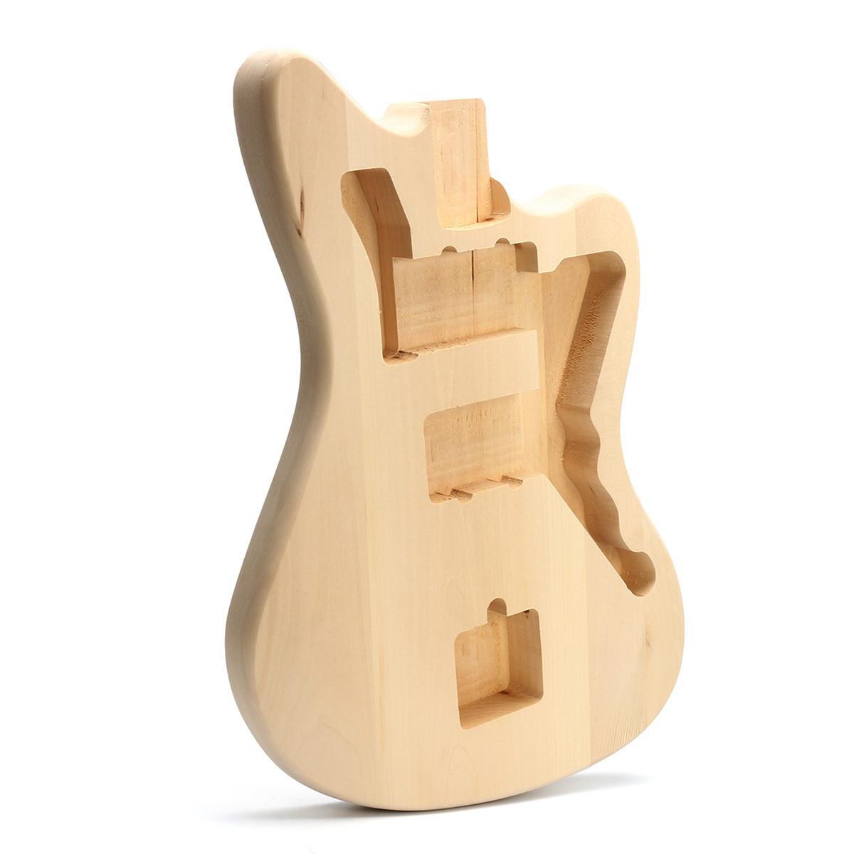 DIY Незаконченный Basswood Электрогитара Body Набор Набор для 6-струнной гитары Музыкальный инструмент - 1TopShop