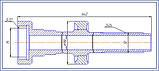 172.21.034 Вал главного сцепления ХТЗ-17021, -17221, Т-150К (ЯМЗ, Deutz) оригинал, фото 2