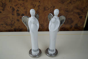 Фігурка ангел біла керамічна декоративна біла