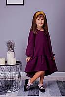 Детское платье-трапеция с воланом