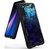 Чохол Ringke Fusion X Design для Xiaomi Redmi Note 8 CAMO BLACK, фото 5