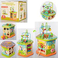 Развивающая деревянная игрушка (бизиборд, пальчиковый лабиринт, ксилофон) арт. 2190