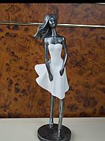 Статуэтка девушка в белом платье металическая