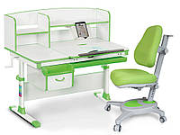 Комплект парта Evo-kids Evo-50 Gray + кресло Y-110 Green