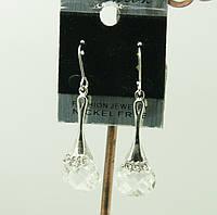 Сваровски. Бижутерия. Серьги с кристаллами. 50