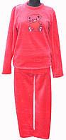 Пижама махровая  с вышивкой на груди