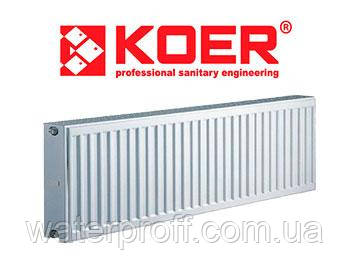 Радиатор KOER тип22 300Н х 400L (боковое), фото 2