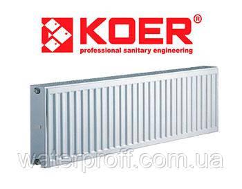 Радиатор KOER тип22 300Н х 1500L (боковое), фото 2