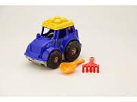"""Трактор """"Кузнечик"""" №1: трактор, лопатка и грабельки COLORPLAST СР0206"""