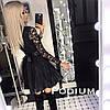 Женское стильное выпускное (вечернее) платье гипюр с пышной юбкой - Фото