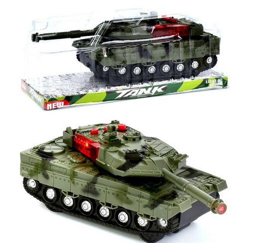 Игрушечный танк со звуковыми и световыми эффектами. Детский танк на батарейках.