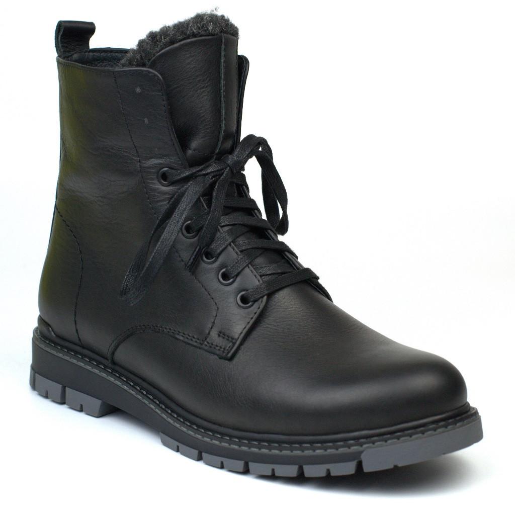 Кожаные черные зимние мужские ботинки на меху Rosso Avangard Whisper 2 Modern Black
