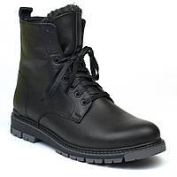 Кожаные черные зимние мужские ботинки на меху Rosso Avangard Whisper 2 Modern Black, фото 1