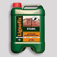 Антисептик-концентрат Lignofix-Stabil 5л. пропитка для дерева кровельная невымываемая. Коричневый