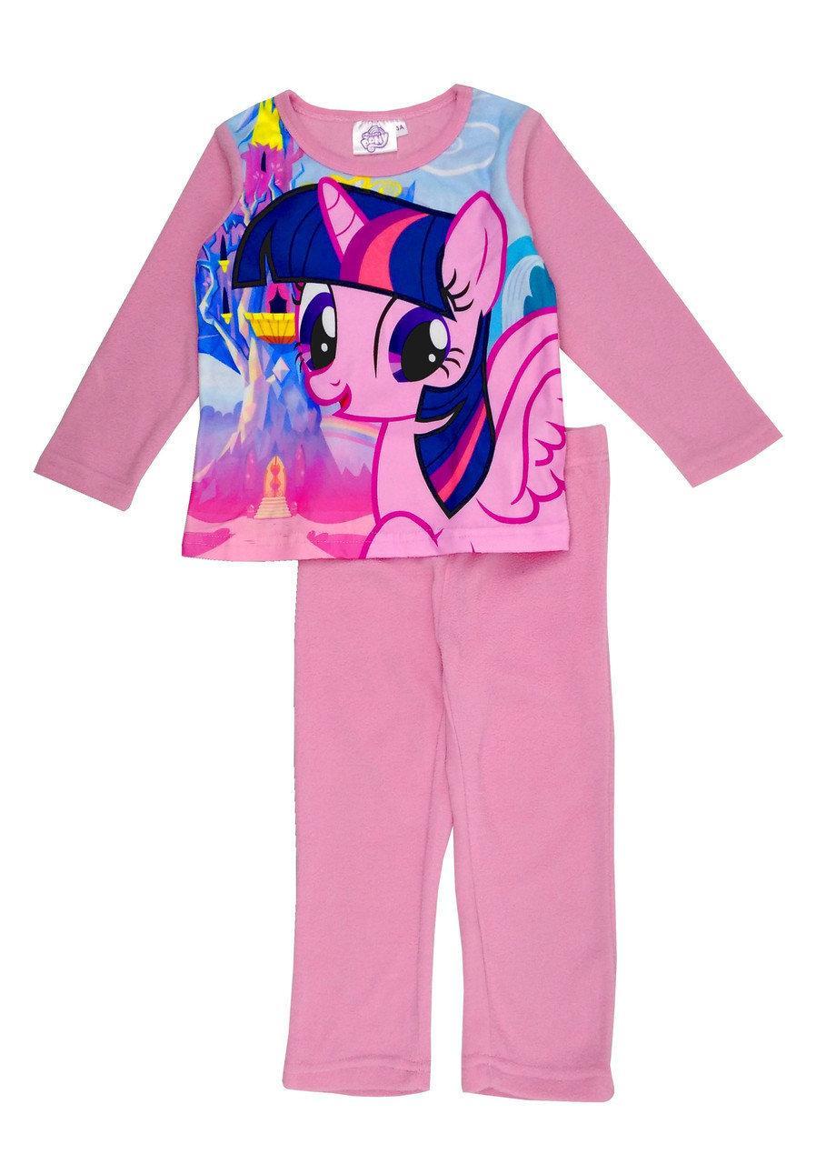 Розова флисова пижама с пони