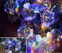 "Светодиодная гирлянда-бахрома на 180 Led ""Волшебные шары"" 12 шаров 3 м мультицвет"