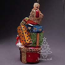 Набір скляних ялинкових іграшок Лис, Лисиця та подарунки Irena, фото 3