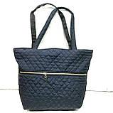 Женские стеганные сумки со змейкой (СЕРЫЙ)32*34см, фото 2