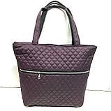 Женские стеганные сумки со змейкой (СЕРЫЙ)32*34см, фото 4