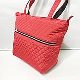 Женские стеганные сумки со змейкой (БАКЛАЖАН)32*34см, фото 4